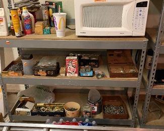 Shelves in garage