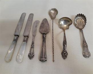 4 sterling silver cloisonne souvenir spoons
