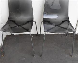 2 Vintage Mid Century R. Foschina Italy Chrome Chairs