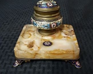 Antique Cloisonne Ink Well
