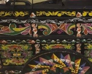 Hand Painted Colorful Cart