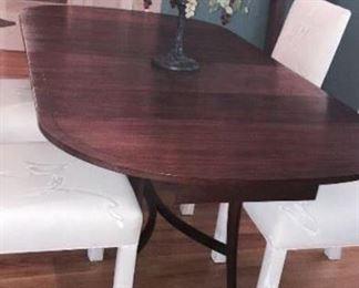 Vintage Round Table w/leaves