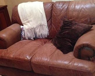 Soft Quality Leather Loveseat (Very Comfortable)