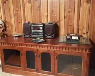 Solid Wood Media/TV Stand! Tons of Storage! Priced to Sell Fast!