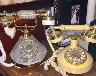 2 Victorian Style Telephones
