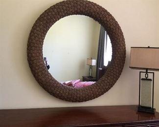 Huge Nautica by Lexington Round Mirror