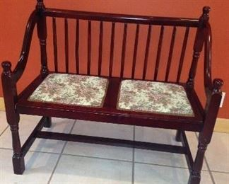2 Seater Bench w/Arms (Upholstered Seats)