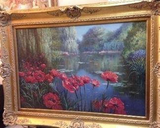 Gorgeous Lg. Signed Original Art by F. Jeyson