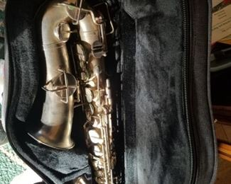 Tenor Sax Christopher Elliot case and reeds