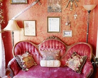 Victorian Settee, Medieval Decor and more