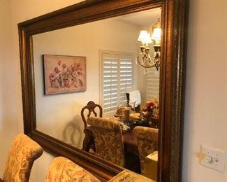 Hugh framed beveled mirror