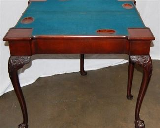 (Showing Inside) of Double Fold Top Card Table
