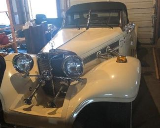 1936 Mercedes Benz Replica Coupe Convertible  Starting offer $10,000