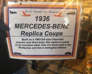 1936 MERCEDES BENZ REPLICA COUPE