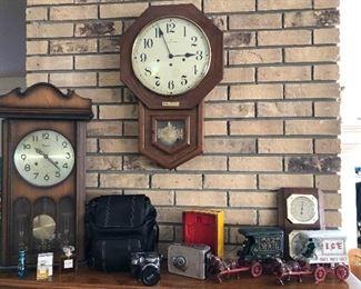 HAMILTON CLOCK, CAST IRON TOYS
