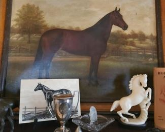 Horse, marble, trophy, horse painting, horse sketch