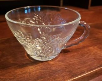 punch, bowl, glass, floral