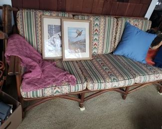 rattan, outdoor, sofa, davenport, couch