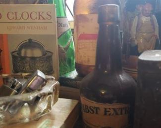 vintage, liquor, bottles, cigar, box, beer, stein