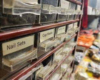 nails, nuts, hooks, organize, drawers, carpenter, handyman, construction