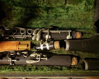 music, wind instrument, instrument, clarinet, vintage, box