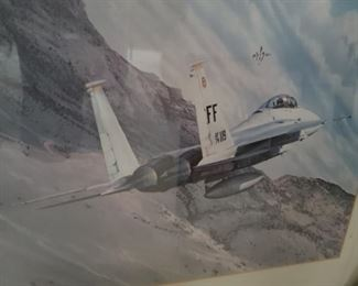 airplane, painting, military, fighter plane