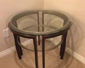 Wood/Glass End Table