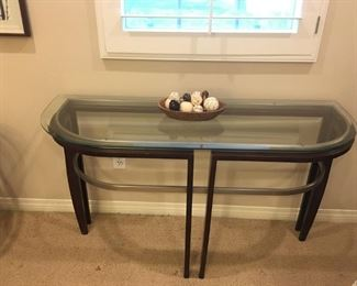 Wood/Glass Entry Table