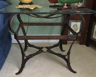 Wrought Iron Strap SideTable