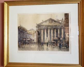 Cecil Tatton Winter etching