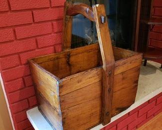 Antique large wedge grain bucket