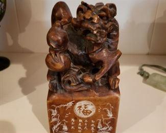 Imitation soapstone carving