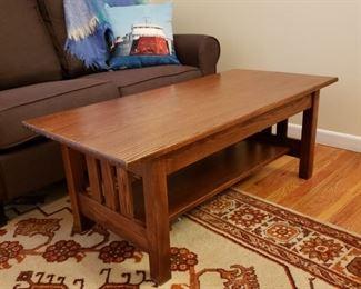 Oak Stickley style coffee table