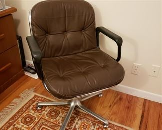 Like new two leather office chairs