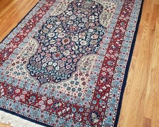 Turkish handmade throw rug, appr. 4 feet 2 inches by 6 feet 8 inches