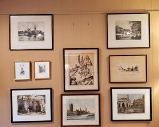 Several original etchings throughout the residence