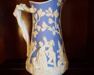 Antique porcelain pitcher, chip on rim