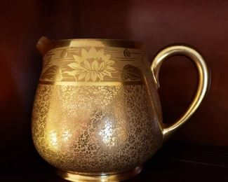 Osborne 22k porcelain pitcher