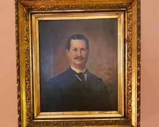 Handsome male portrait from mid 1800's
