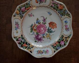 10 Dresden desert plates