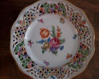 6 Dresden desert plates