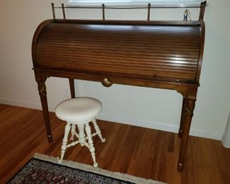 Tomlinson desk with painted piano stool