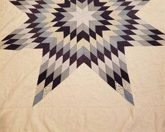 Handmade star quilt