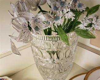 Antique beaded flowers