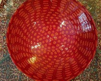 Sam Stang art glass bowl