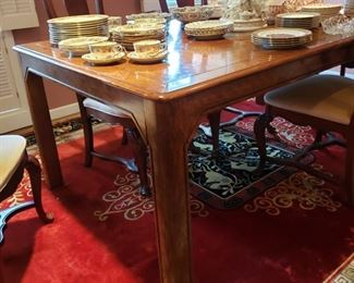 MCM parquet top dining table