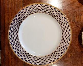 Tiffany & Co. Manhattan Blue china plates