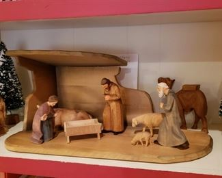 Hand carved Brienz wooden Creche, made in Sweden with papers