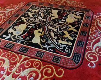 Center medallion of Chinese room rug