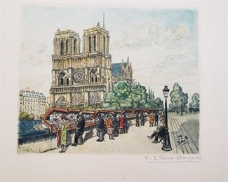 Color etching, signed lower right
